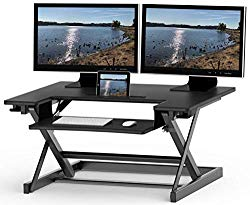 Desk converter with dual monitor support