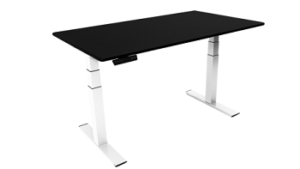 iMovR ZipDesk with a black desktop and white frame
