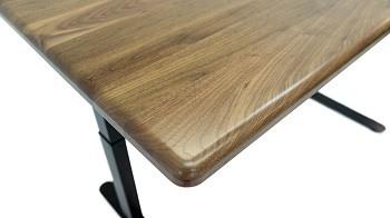 Solid wood desktop with contoured edge