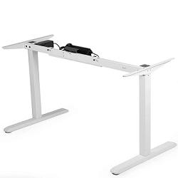Vivo electric standing desk base in white