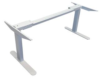 Angled view of iMovR Lander standing desk base