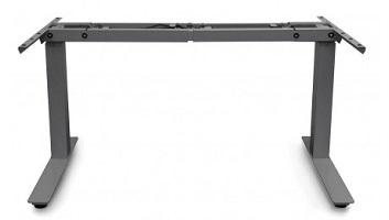 Black electric standing desk base