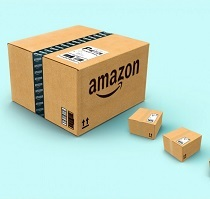Large Amazon box in background with 2 smaller boxes in front