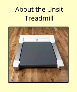 """The Unsit Treadmill under text reading """"About the Unsit Treadmill"""""""