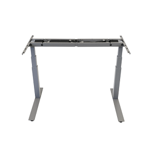 Legs and central support beam of a standing desk frame