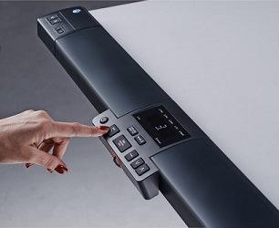 Built-in console on the TR5000 treadmill desk
