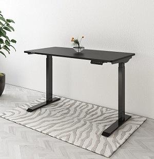 Flexispot electric standing desk model EC9 with black desktop and matching base