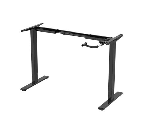Black crank adjustable standing desk frame by Flexispot