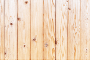 Vertical view of planks of pine wood