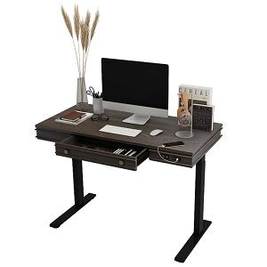 Theodore standing desk by FlexiSpot with storage drawer, basic controller and USB charging ports